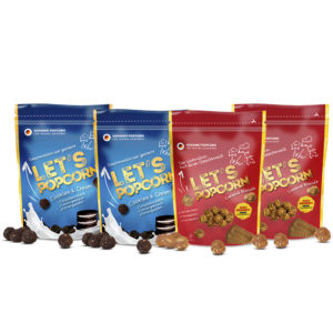Let's Popcorn PowerPack - 2x Cookies and Cream und 2x Caramel Biscuit