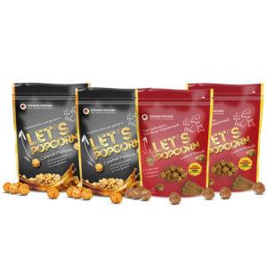Let's Popcorn PowerPack - 2x Caramel Premium und 2x Caramel Biscuit