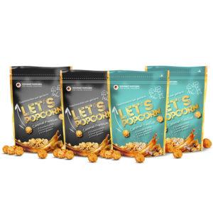 Let's Popcorn PowerPack - 2x Caramel Premium und 2x Caramel SeaSalt
