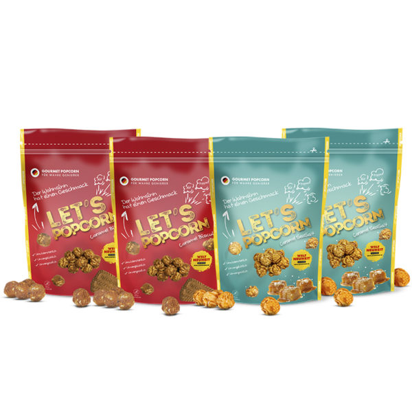 Powerpack, Caramel Biscuit, Caramel Seasalt, LetsPopcorn
