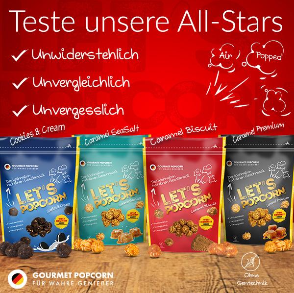 Lets Popcorn, Produkttest, Socialmedia, Allstars