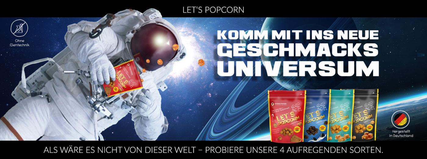 Lets Popcon komm mit ins neue Geschmacksuniversum