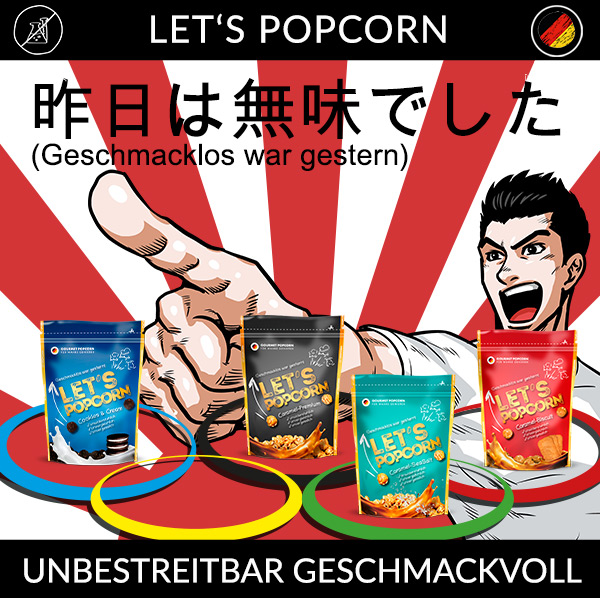 Lets Popcorn, Olympia, Tokyo, Geschmacklos war gestern