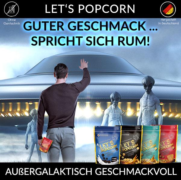 Außergalaktisch Geschmackvoll Let's Popcorn