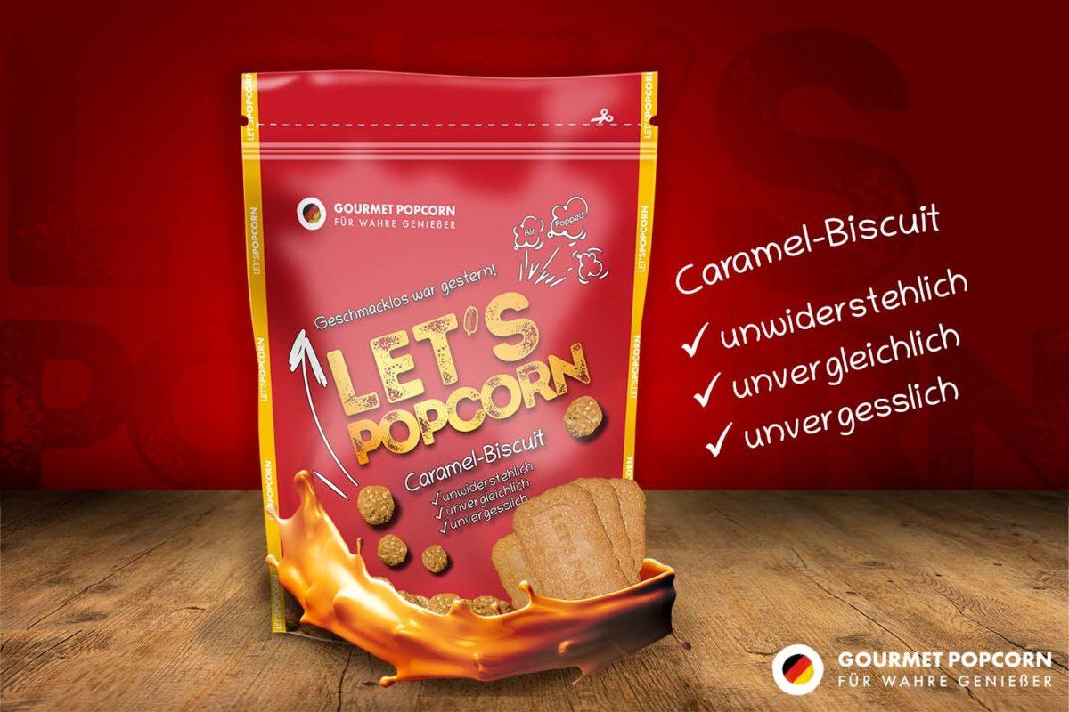 Let's Popcorn Caramel Biscuit, 100g