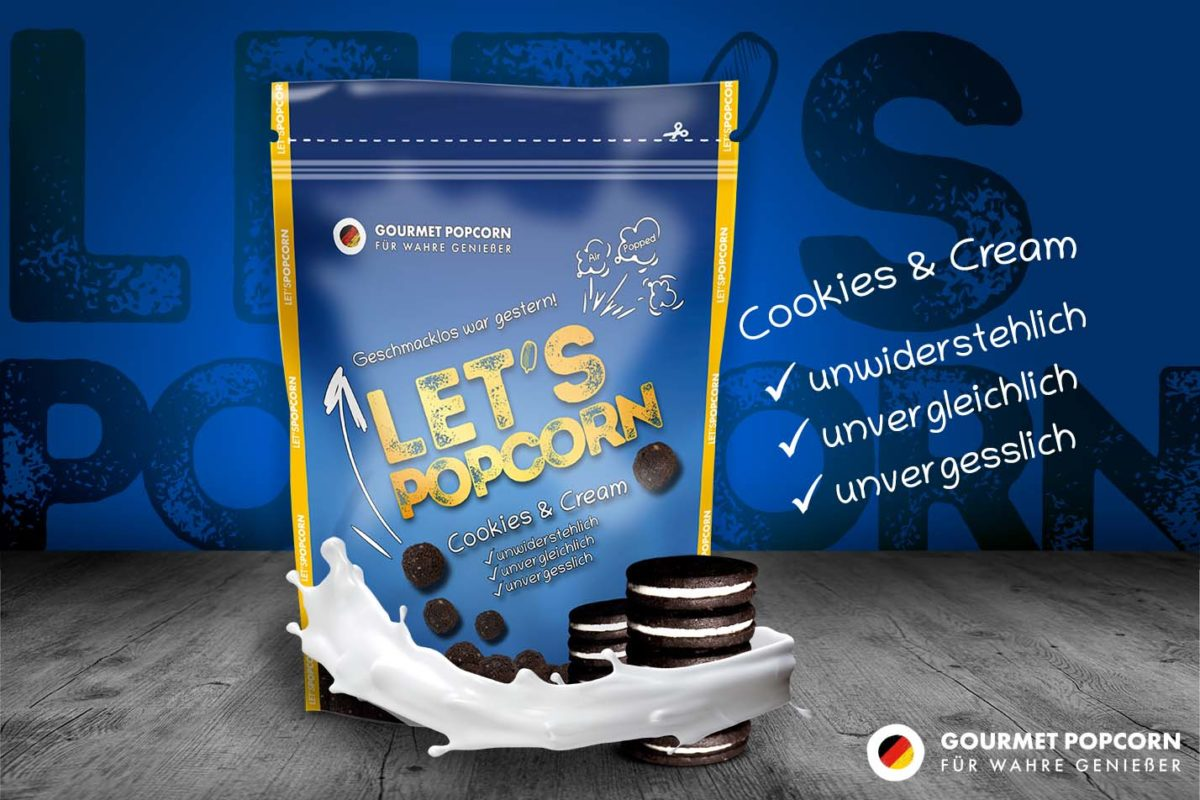 Let's Popcorn Cookies and Cream, 100g